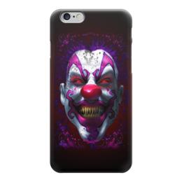 "Чехол для iPhone 6 глянцевый ""Evil Clown"" - evil, clown, злой клоун, клоун, зомби"