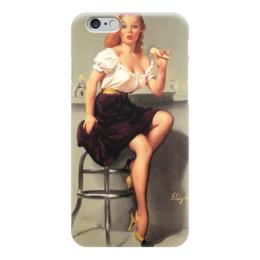 "Чехол для iPhone 6 глянцевый ""Пинап!"" - пин-ап, пинап, pin-up, ретро"