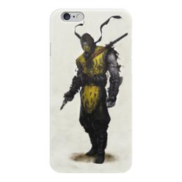 """Чехол для iPhone 6 """"mortal kombat x"""" - скорпион, mortal kombat, мортал комбат, scorpion, мк"""