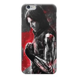 """Чехол для iPhone 6 """"Зимний солдат, Баки / Bucky"""" - рисунок, марвел, зимний солдат"""