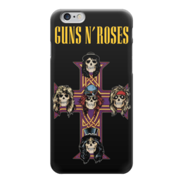 "Чехол для iPhone 6 глянцевый ""Guns N' Roses"" - metal, рок, rock, heavy metal, фанат, glam, guns n roses, метал, металлист, хэви метал"