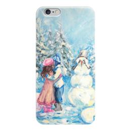 "Чехол для iPhone 6 ""Смущенный снеговик"" - зима, снеговик, валерия меценатова"