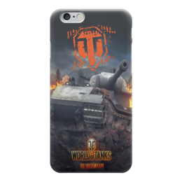"Чехол для iPhone 6 глянцевый ""World of Tanks"" - world of tanks, танки, wot, игры"