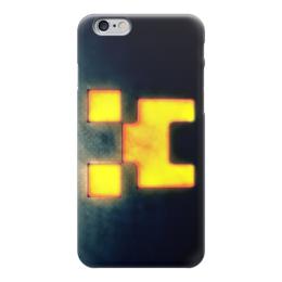 """Чехол для iPhone 6 глянцевый """"Minecraft (Майнкрафт)"""" - creeper, крипер, mob, майнкрафт, minecraft"""
