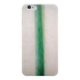 """Чехол для iPhone 6 """"Зелёная полоса (картина Розановой)"""" - картина, розанова"""