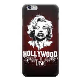 """Чехол для iPhone 6 """"Hollywood is dead"""" - zombie, зомби, ужасы, мерилин монро, marylin monroe"""
