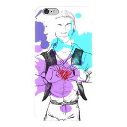"""Чехол для iPhone 6 """"Люблю её (парень)"""" - любовь, парень, рисунок, пара"""