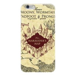 """Чехол для iPhone 6 """"Карта мародеров"""" - harry potter, гарри поттер, карта мародеров"""