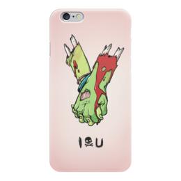 """Чехол для iPhone 6 """"I love you (зомби)"""" - хэллоуин, зомби, руки, парные, i love you"""