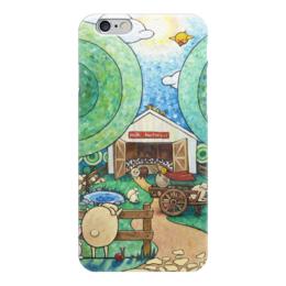 """Чехол для iPhone 6 """"Lollypups #16 (milk factory) """" - баран, pop-art, positive, овечка, лолипупсы"""