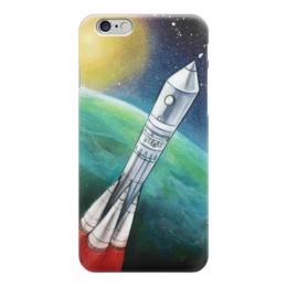 """Чехол для iPhone 6 глянцевый """"Советская ракета"""" - ссср, страна, космос, наука, техника"""