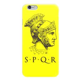 """Чехол для iPhone 6 глянцевый """"SPRQ: Legion"""" - история, рим, путь воина, гесс, римская империя"""