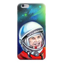 "Чехол для iPhone 6 глянцевый ""Гагарин"" - ссср, гагарин, космос, yuri gagarin, герой"