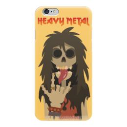 "Чехол для iPhone 6 ""Heavy Metal Art"" - skull, череп, heavy metal, рок музыка, хеви метал"