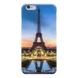 "Чехол для iPhone 6 глянцевый ""Парижский вечер"" - париж, вечер, эйфелева башня, фото"