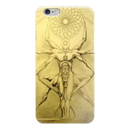 "Чехол для iPhone 6 ""Yoga man "" - man, yoga, da vinchi"