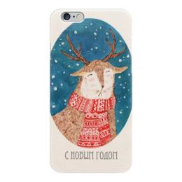 "Чехол для iPhone 6 глянцевый ""артолень"" - олень, deer, новый год, happy new year"