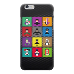 "Чехол для iPhone 6 глянцевый ""Герои Бэтмена (Поп-арт)"" - joker, batman, pop art, bane, catwoman"