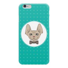 """Чехол для iPhone 6 """"Кот сфинкс"""" - кот, арт, бабочка, галстук, сфинкс"""