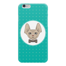 "Чехол для iPhone 6 глянцевый ""Кот сфинкс"" - арт, кот, сфинкс, галстук, бабочка"