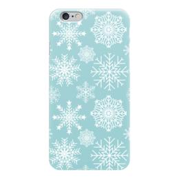 """Чехол для iPhone 6 """"Снежинки"""" - новый год, снег, абстракция, иллюстрация, снежинка"""