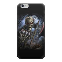 """Чехол для iPhone 6 """"Скелет с топором"""" - skull, череп, skeleton, скелет, кровь"""