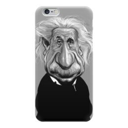 "Чехол для iPhone 6 глянцевый ""ЭЙНШТЕЙН"" - энштейн, карикатура, арт"