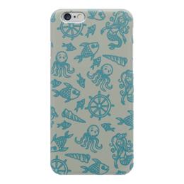 """Чехол для iPhone 6 """"Морские глубины"""" - море, рыба, осминог, ракушка, русалка"""