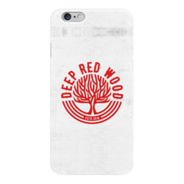 "Чехол для iPhone 6 ""Deep Red Wood"" - iphone, iphone6, deepredwood, legendspro"