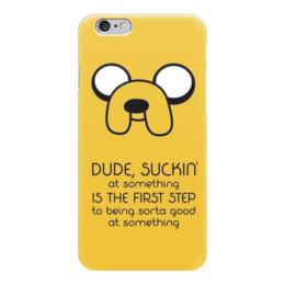 "Чехол для iPhone 6 ""Джейк (Jake the dog)"" - adventure time, время приключений, джейк, jake the dog"