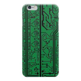 """Чехол для iPhone 6 глянцевый """"Электроника"""" - электроника, наука, техника, дизайн"""