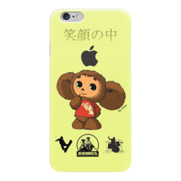 "Чехол для iPhone 6 глянцевый ""Авторский дизайн By Cheb"" - cheburashka, airsoft, drums, japan, snowboard"