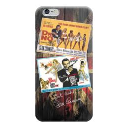 "Чехол для iPhone 6 ""James Bond - старые афиши"" - james bond, ретро кино, джеймс бонд, старые афиши"