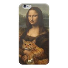 "Чехол для iPhone 6 ""Мона Лиза iphone6"" - кот, cat, монализа, mona lisa"