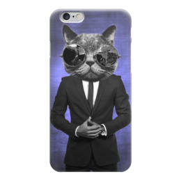 "Чехол для iPhone 6 ""Пушистик из коллекции SWANKY PETS"" - кот, стиль, мода, шик, костюм"