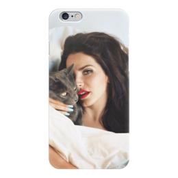 """Чехол для iPhone 6 глянцевый """"Lana Del Rey"""" - lana del rey, лана дель рей, кошка"""