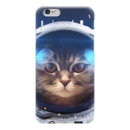 """Чехол для iPhone 6 """"Котосмонавт"""" - кот, космос, животное, костюм"""