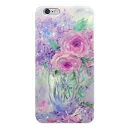 """Чехол для iPhone 6 """"Сирень и розы"""" - розы, сирень"""