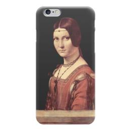 """Чехол для iPhone 6 """"Прекрасная Ферроньера"""" - картина, да винчи"""