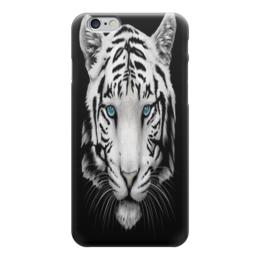 """Чехол для iPhone 6 глянцевый """"Белый тигр"""" - тигр, животные, зверь, природа, хищник"""