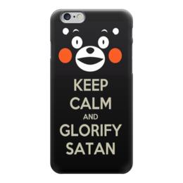 "Чехол для iPhone 6 глянцевый ""Keep calm Кумамон"" - keep calm, сохраняй спокойствие, кумамон, kumamon"