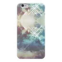 "Чехол для iPhone 6 ""Abstract 478"" - лес, текстура, туман, бирюза"