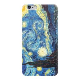 """Чехол для iPhone 6 глянцевый """"Звездная ночь, Ван Гог"""" - ван гог, звёздная ночь, vincent van gogh"""