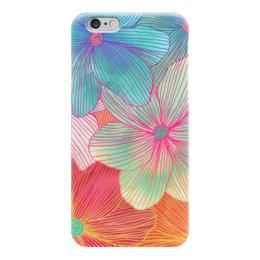 """Чехол для iPhone 6 глянцевый """"Тропические Цветы"""" - цветы, природа, flowers"""