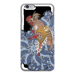 """Чехол для iPhone 6 """"петушиное разноцветие"""" - узор, птица, символ года, злой, петух"""