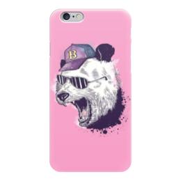 "Чехол для iPhone 6 ""Панда B"" - панда, pink"