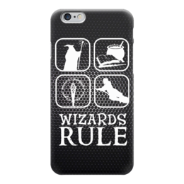 "Чехол для iPhone 6 ""Правила Волшебников (Властелин Колец)"" - lord of the rings, wizards rule"