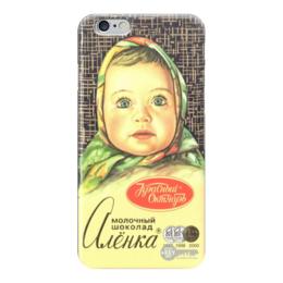"""Чехол для iPhone 6 глянцевый """"Алёнка"""" - алёнка, шоколад, аленка, chocolate"""