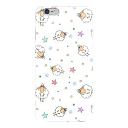 """Чехол для iPhone 6 """"Овечки"""" - happy new year, новый год, в подарок, иллюстрация, sheep, овечка, символ2015"""