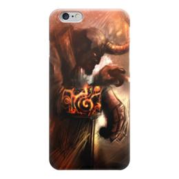 """Чехол для iPhone 6 глянцевый """"Хеллбой"""" - хеллбой, комиксы, hellboy, dark horse comics, демон"""